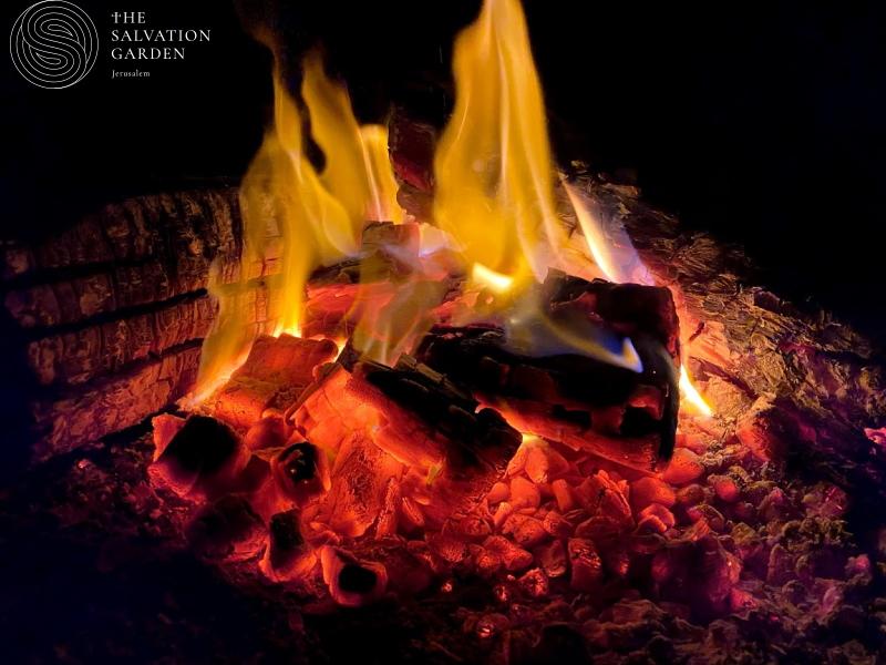 Burn prayer in holy fire
