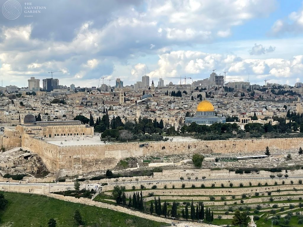 Jerusalem Old City view from the Mount of Olives - prayer request